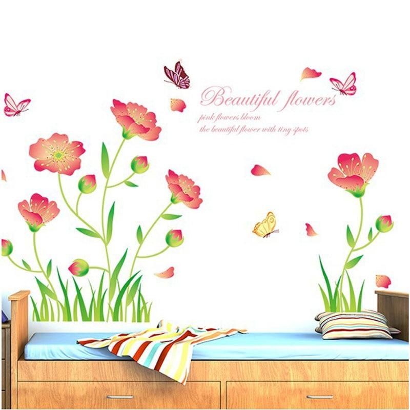 Fundecor] bei fiori di farfalla autoadesivi della parete della ...