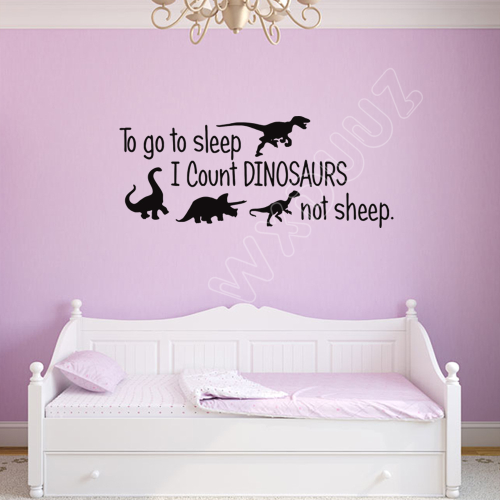 WXDUUZ Dinosaur Nursery Kids Room Vinyl Removable Wall Stickers Art Deco Home Decoration C47