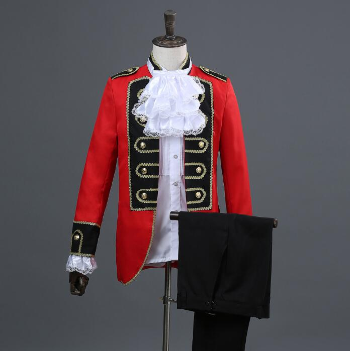 Men Palace Suits Designs Masculino Homme Terno Stage Costumes For Singers Men Blazer Dance Clothes Jacket Star Style Dress Red