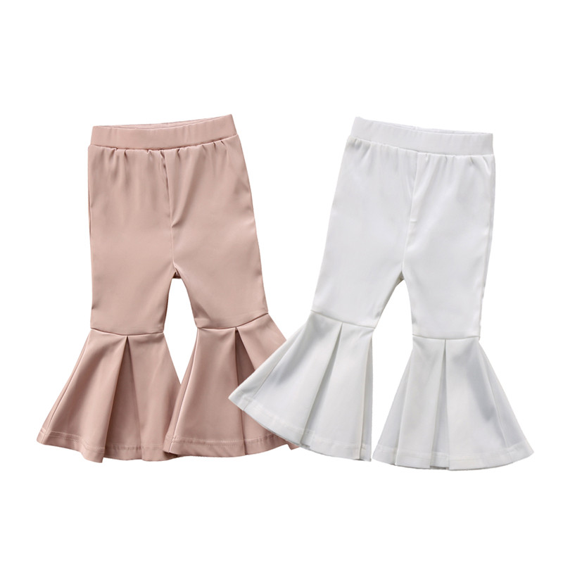 Cute Kids Baby Girls High Waist Wide Long Flare   Pants     Capris   Girl Clothes Bell Bottom   Pants   Cotton Causal Boot Cut Trousers 2-7T