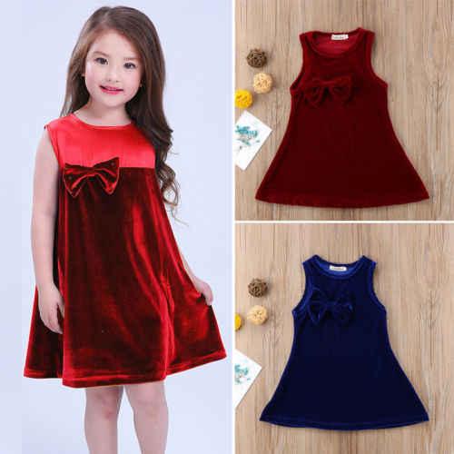 1c71baeb8d0 2018 модная одежда для малышей с бантом для девочки летнее праздничное платье  Вельветовое платье младенцев Обувь