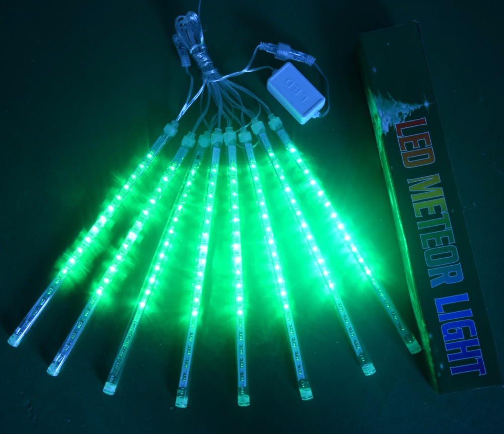 HY Holiday Lights 30cm /50CM Meteor Shower Rain Tubes Led Light Lamp 100-240V Christmas String Light Wedding Garden Decoration