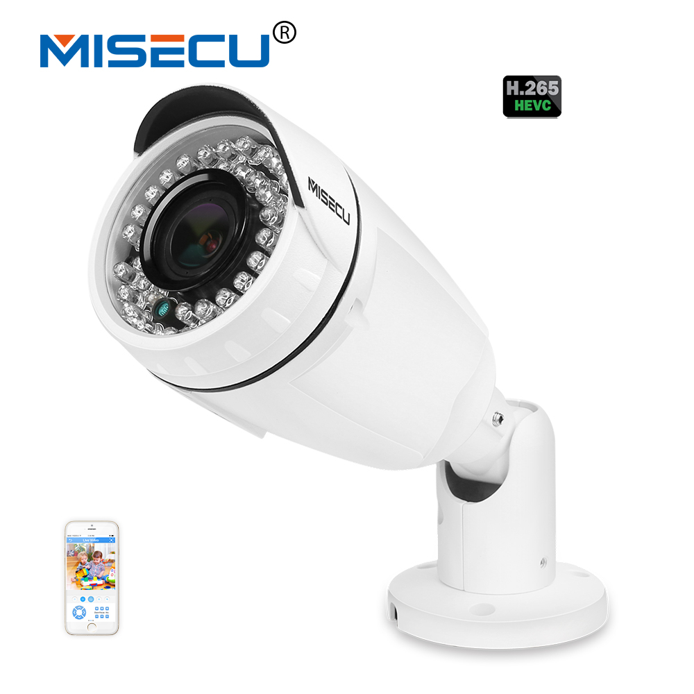 MISECU 48V POE H.265/H.264 4.0MP 2.8-12mm Auto Zoom Sony 2.0MP HD IP wide dynamic Onvif P2P Night Vision 42LED Camera Waterproof jsa low illumination h 265 h 264 48v poe ip camera 1 3 wide dynamic full color to fog onvif 1 3mp 2mp camera p2p night view