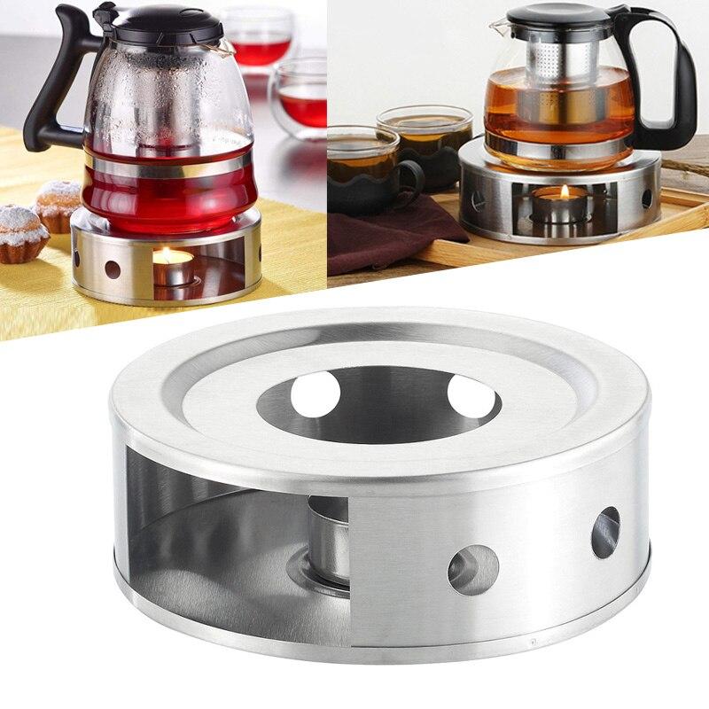Stainless Steel Teapot Heating Bracket Candle Heating Coffee Milk Stove Holder Shelf Base MDD88