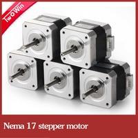 5pcs 4 lead Nema17 Stepper Motor for 3D printer 42 motor Nema 17 motor 42BYGH 1.7A (17HS4401) motor for CNC XYZ