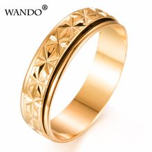 wando Middle East Muslims Indian ring jewelry wholesale gold can be rotated retro men's women lines ring WR36-6(China)