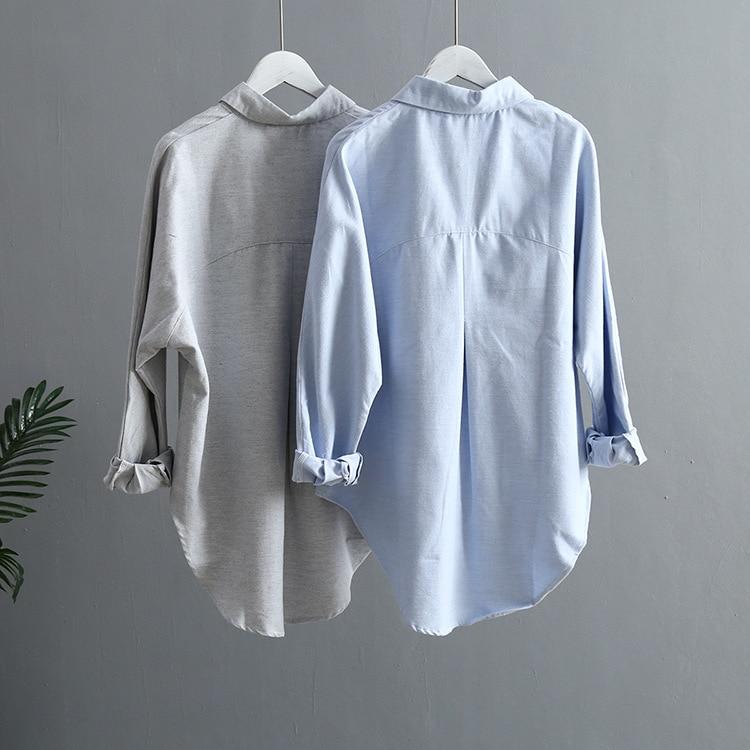 Blouse Korean Long Sleeve Tops And Blouses Vintage Women Shirts 17
