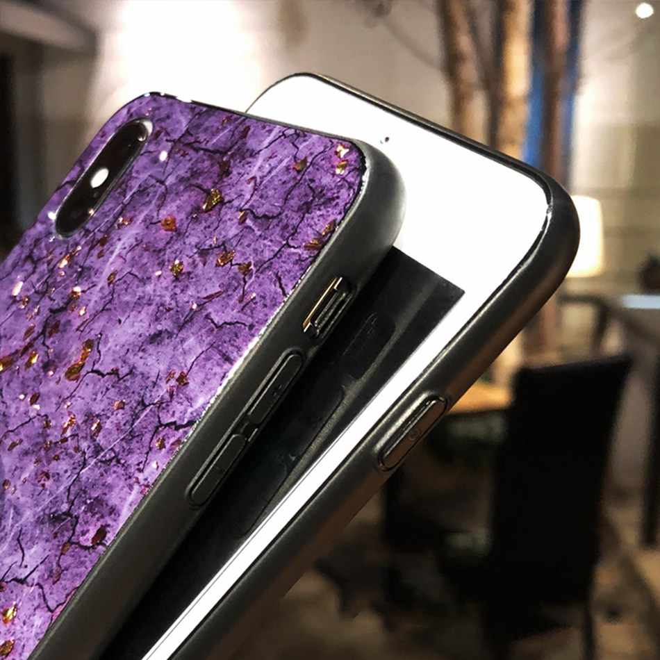 Lüks mermer altın telefon samsung kılıfı Galaxy A10 A2 0A30 A40 A50 A60 A70 A80 A90 kılıfı A8S A8 artı A9 m30S A40S kılıfı