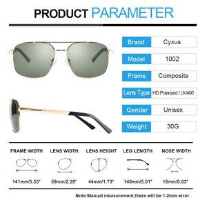 Image 5 - Cyxus  Polarized Sunglass Classic UV 400 Square Shades Men Women with UVA UVB Protection Unisex 1002