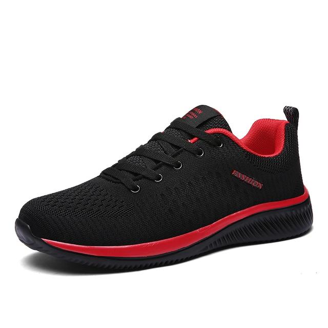 2019 Moda Erkek rahat ayakkabılar Lac-up Erkek Örgü Ayakkabı Hafif Rahat Nefes Yürüyüş Spor Ayakkabı Tenis Feminino Zapatos