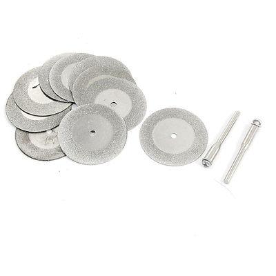 10PCS 35x1mm Aluminum Resin Bond Diamond Coated Grinding Wheel Gray W Drill Bits