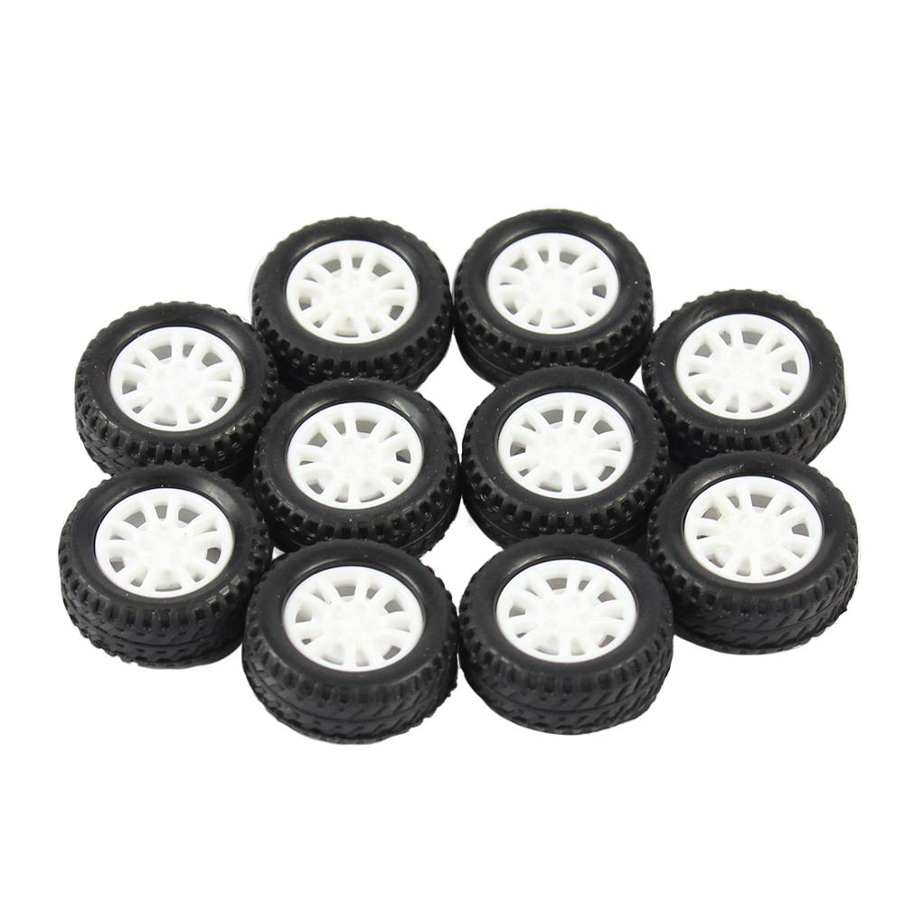 10Pcs 20*8*1.9mm Rubber Hollow Tire Car Wheel Model Wheels DIY Toy Accessory For Car F17678