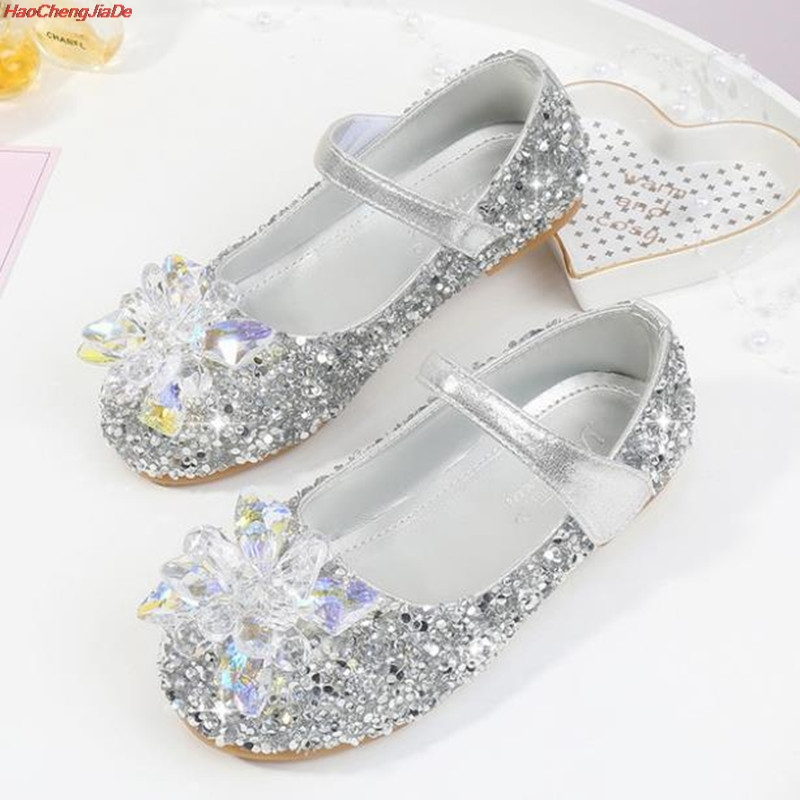 HaoChengJiaDe Children Leather Shoes Child Girls Princess Spring Autumn Elsa Shoes Chaussure Enfants Sandals Party Anna Shoes