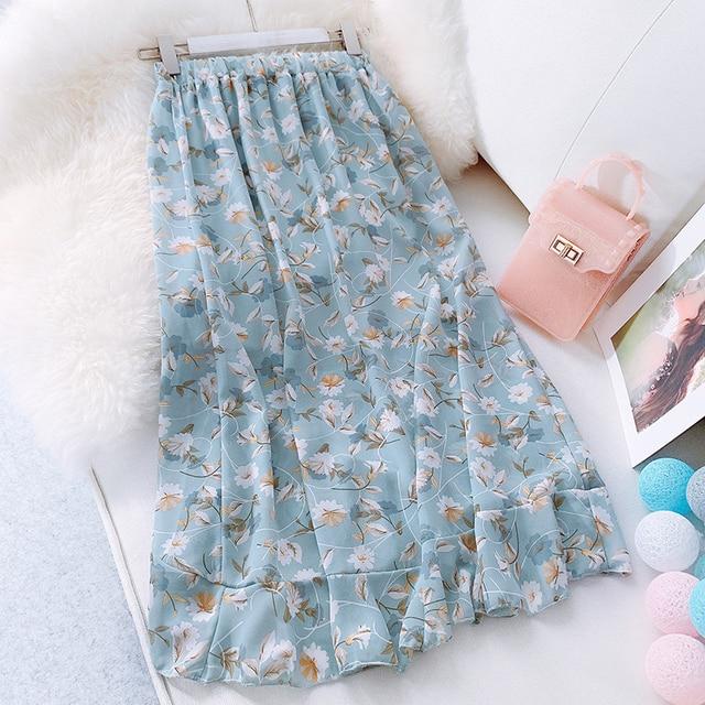2019 Summer Soft Floral slim skirt Full spot Fashion Female Life Skirt Glitter decorati New Arrivals Leisure wind high quality