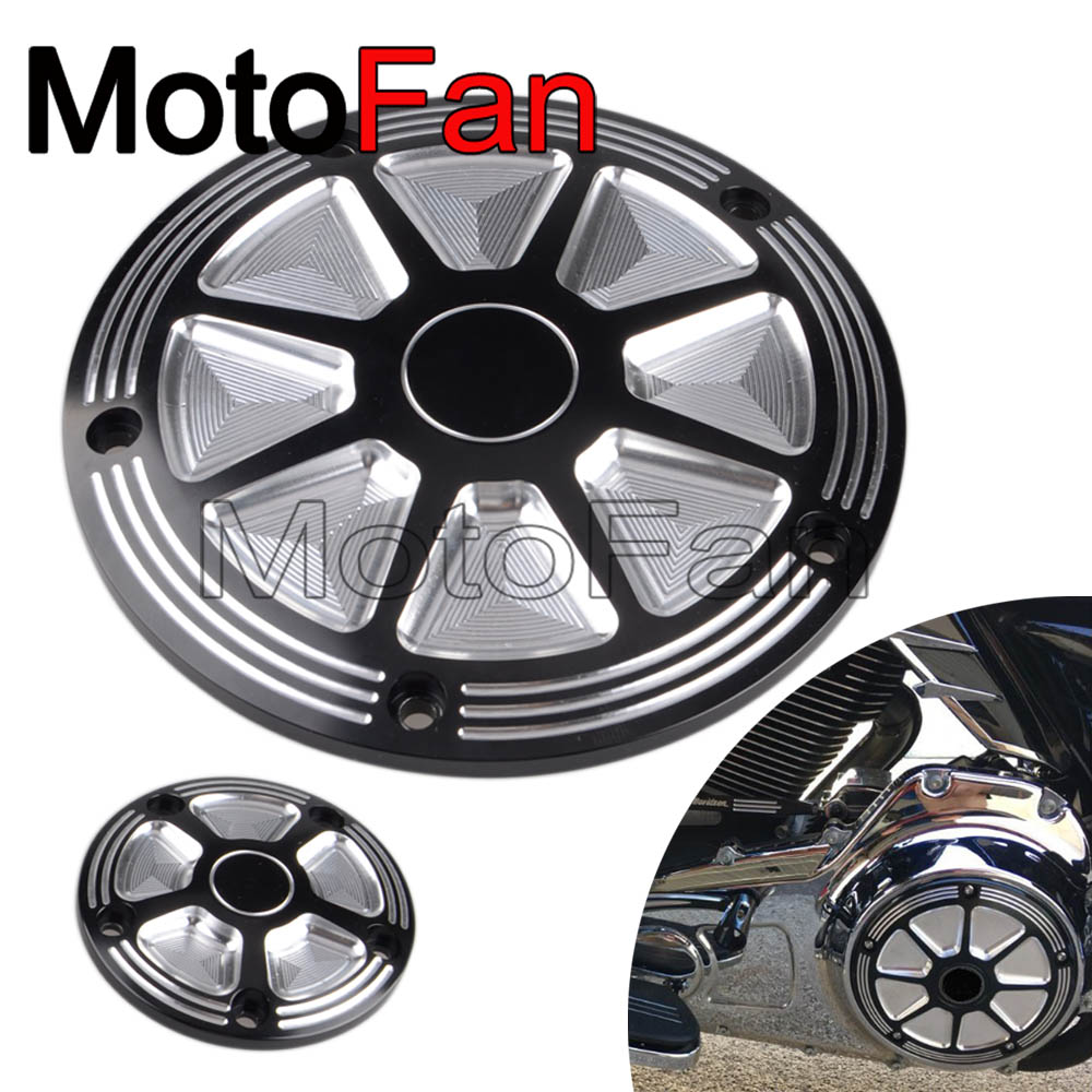 CNC Motorcycle Derby Covers Timer Timing Cover 5 Hole for Harley Davidson Road King FLHR Softail FLSFB Dyna FLD Electra Glide 1set motorcycle derby cover timing timer covers cnc aluminum for harley davidson xlh xl 883 883l 1200c 1200l sportster 883n iron