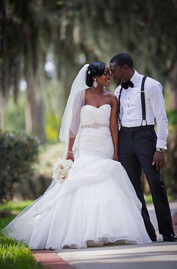 Sexy Bridal Gowns 2017 Elegant African American Black Girl -1144