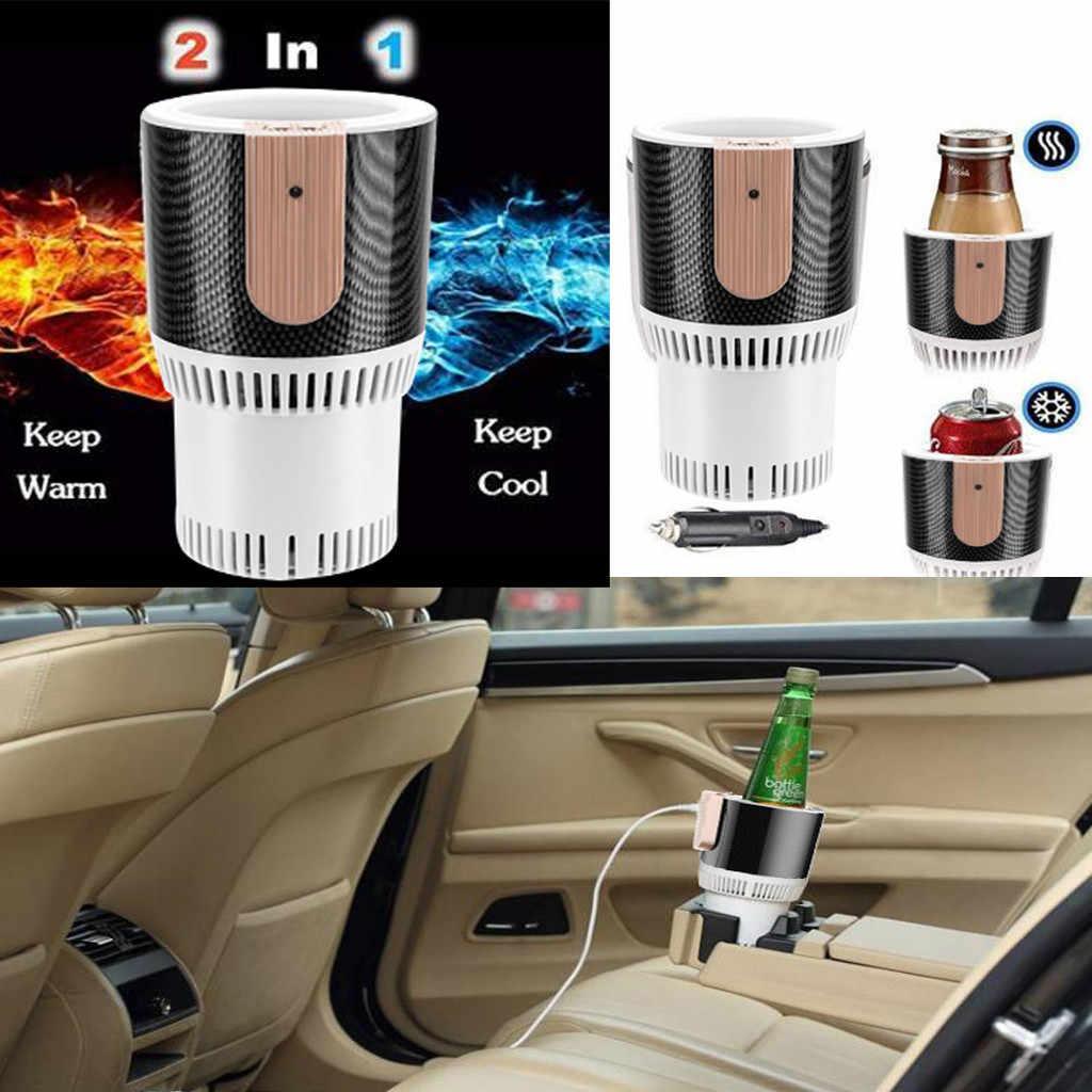 2-em-1 Suporte de Copo Do Carro auto Refrigerador de refrigeração e aquecimento Elétrico Warmer Garrafa Bebida Veículo 12 v smart Caneca Copo Universal
