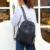 Céu fantasia nylon sólido preto rivet estilo punk moda feminina vogue juventude meninas Temperamento popular pequeno saco de viagem mochilas
