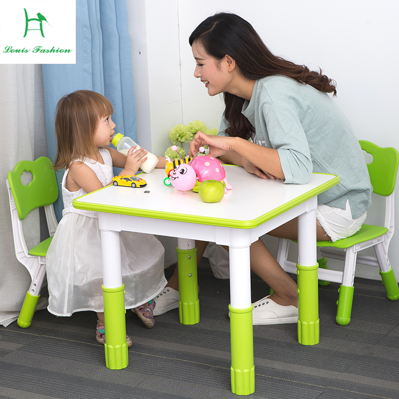 Louis Fashion Children kindergarten lifting tables and chairs set baby learning toys early game painting desk small square table
