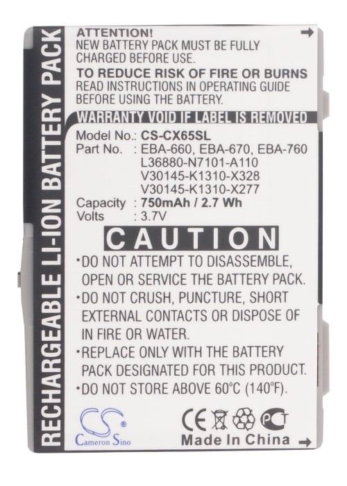 Cameron Sino 750mah Battery For Siemens Cxi70,cxt65,cxt70,cxv65,cxv70,m65,m75,m8,s65,s65v,s66,s75,sk65,sp65,for Benq-siemens M81 Cellphones & Telecommunications