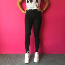 Ripped Jeans Women Jeggings Cool Denim Pencil Pants Capris Female Skinny Dark Grey Casual Jeans Slim Trousers