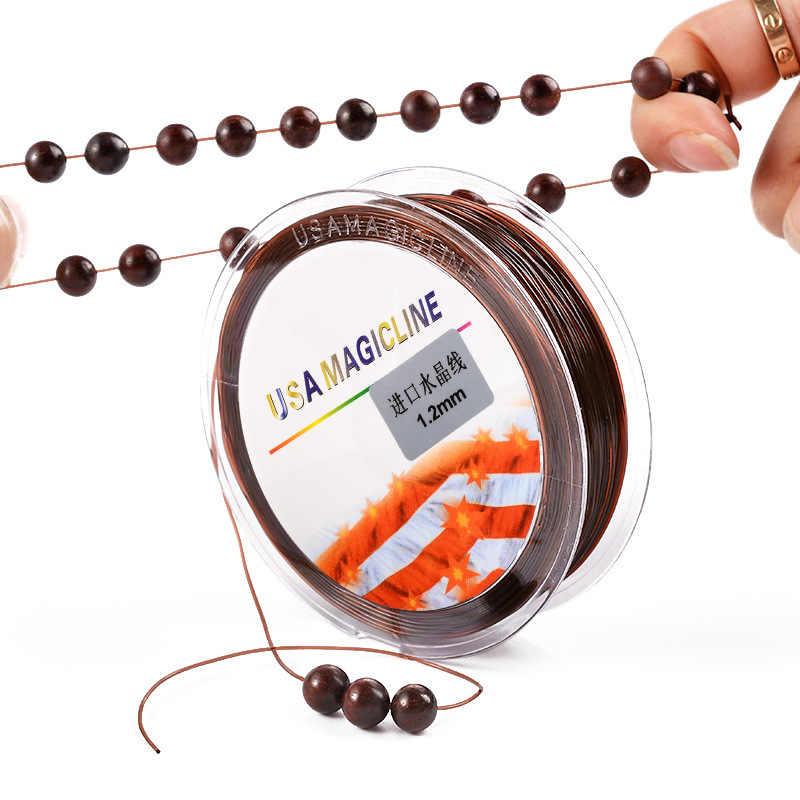 MOQ = 1pc Luck Jewel โปร่งใสสายยางยืดคุณภาพดีขายส่งเครื่องประดับ DIY อุปกรณ์เสริมรอบลูกปัดลวดสร้อยข้อมือ