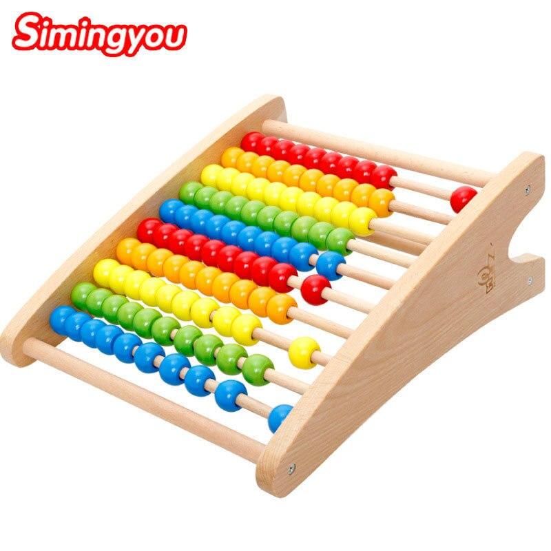 Simingyou Развивающие игрушки для детей детские деревянные раннего обучения игрушки Красочные вычислений Рамки математика игрушка a50-0070 Прямая...