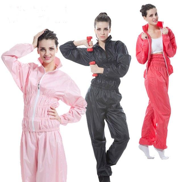 8396ff2dd9 Pantalones de Sauna de cintura alta para mujer conjunto de camisa Fitness  pérdida de peso aerobic