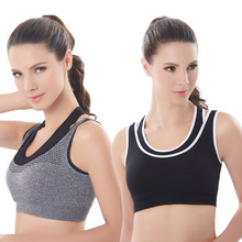 Sports Active Bra Push Up Wear Tops Shockproof for Women Gym Brassiere Casual Bras Cross Crop Top Female