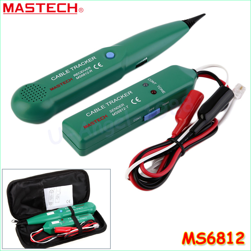 MASTECH MS6812 Telephone Phone Wire Network Cable Tester Line Tracker New 2017 new mastech ms6811 handheld network cable tester line tracker utp and stp wiring test meter