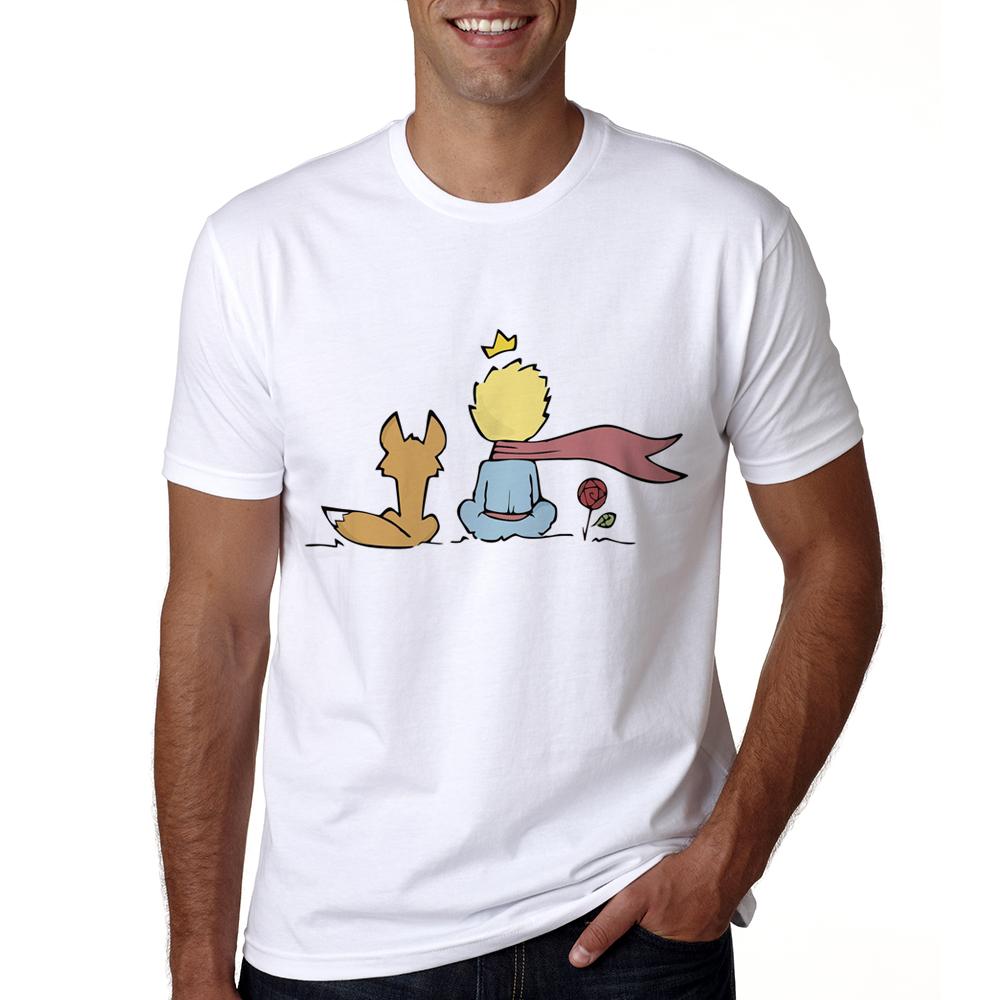 2018 Men The Little Prince Shirt Summer Funny T-shirt Short Sleeve O-neck The Little Prince Tshirt Male Cool Cartoon Tops Tees