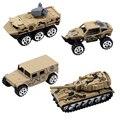 Feliz de la Cereza 1 Unidades 4 UNIDS 1: 64 Escala Diecast Metal camión vehículo de juguete mini modelo de tanque militar toys for kids niños