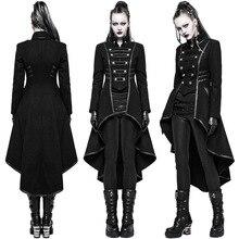 Женское пальто в винтажном стиле, длинное пальто в стиле стимпанк, готическое пальто, женская Ретро куртка, роскошный бренд, ласточкин хвост, veste femme chaquetas mujer