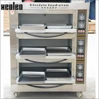 XEOLEO 3 слоя 6 пластин Пищевая печь галогенная печь для выпечки печь для пиццы Коммерческая нержавеющая сталь электрическая пекарня для хлеба/