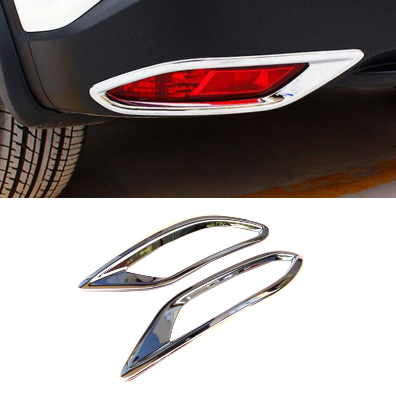 <font><b>ACCESSORIES</b></font> CHROME REAR BUMPER FOG REFLEX LIGHT COVER TRIM MOLDING LAMP GARNISH FOR <font><b>HONDA</b></font> VEZEL <font><b>HRV</b></font> HR-V 2014 2015 2016 to 2019 image