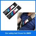 Envío gratis 2 unids cubierta Del cinturón de seguridad de hombro pad cubierta del cinturón de seguridad del coche con Bordado para BMW