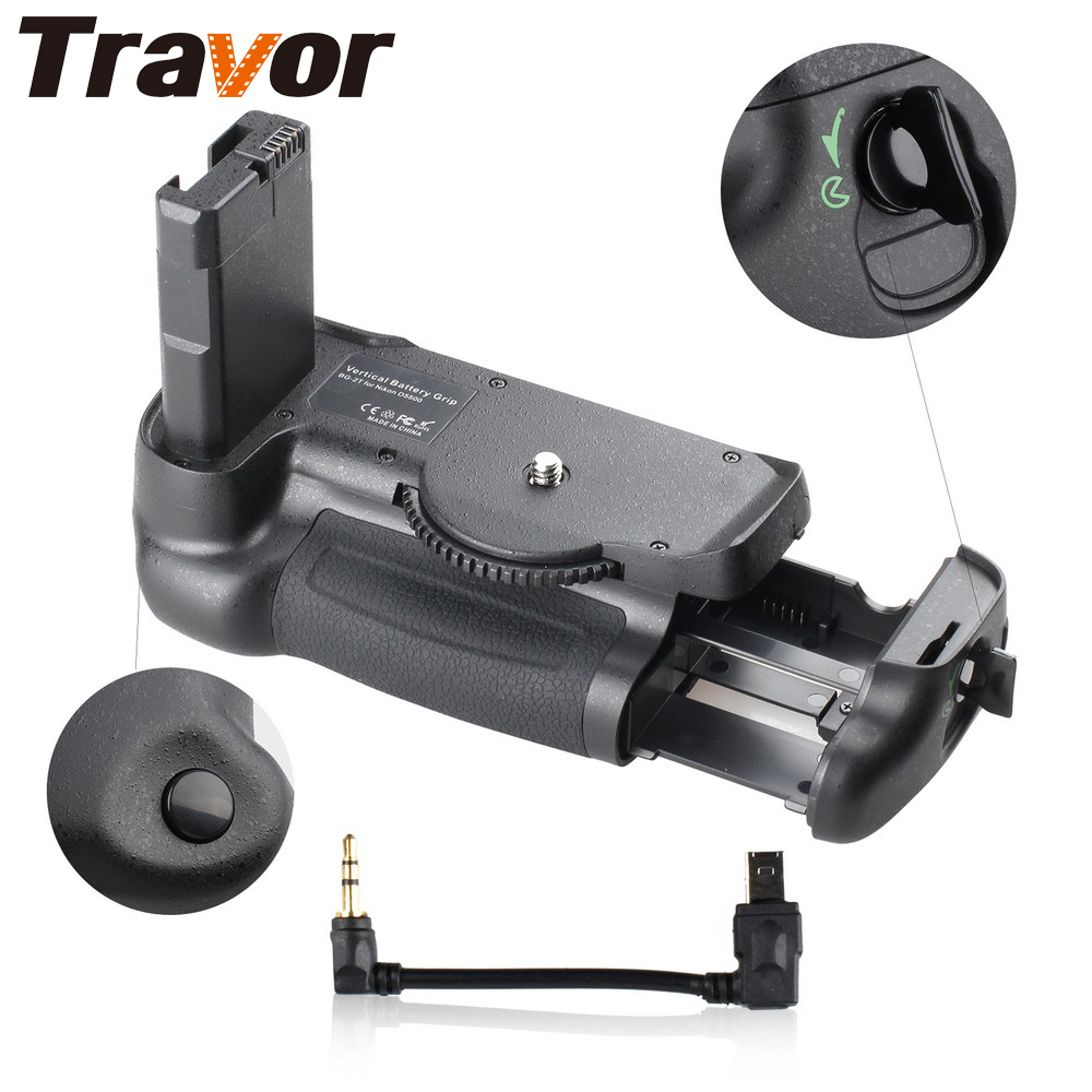 Travor Professional Multi Power Batteri Grip til Nikon D5500 D5600 DSLR kamera