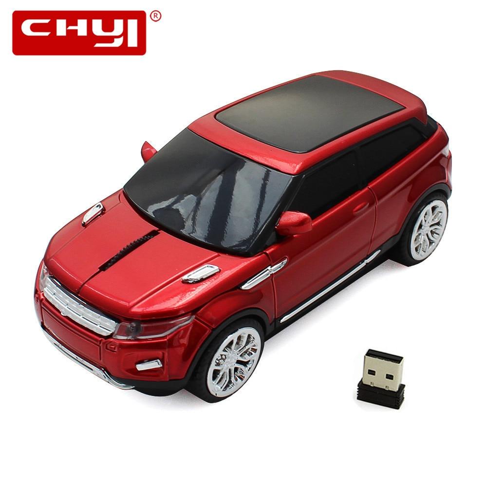 무선 마우스 레이싱 자동차 마우스 2.4GHz USB 광학 컴퓨터 마우스 3 개 버튼 일시 중지 1600 DPI Sem Fio 게임용 마우스 (USB 수신기 포함)