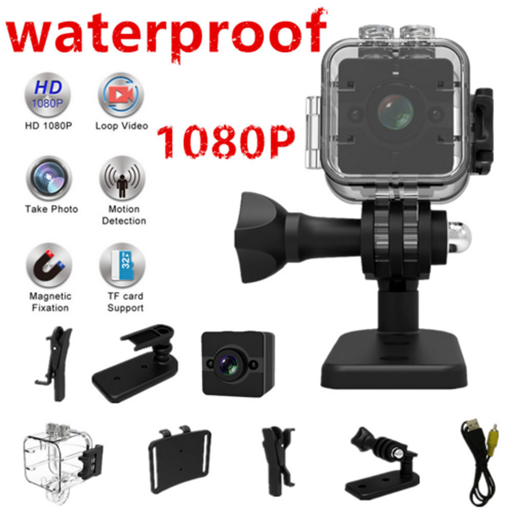 100% Original SQ12 Waterproof Mini Camera HD 1080P Video Recorder Digital Sports Camera Night Vision Wide-Angle Camcorder SQ11