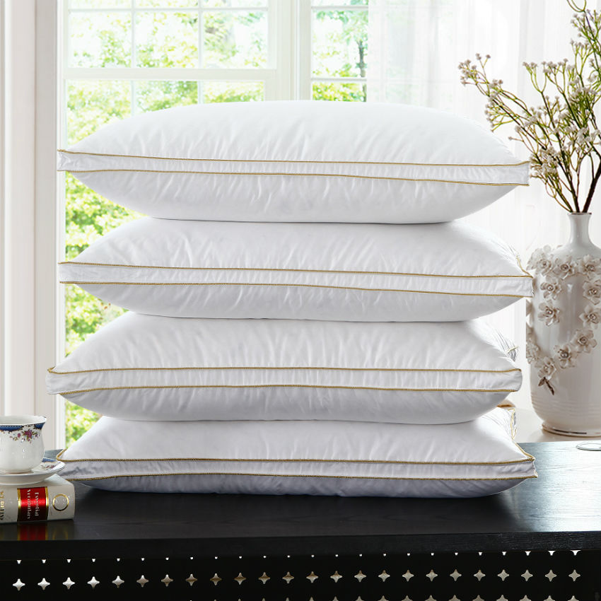 Peter Khanun Top Quality Brand Design White Duck Feather Neck Health Care Pillow 100 Cotton Allow