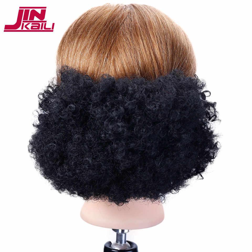 Jinkaili Curly Hair Chignon Hair Tails Natural Fake Rubber Band