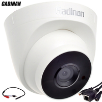 GADINAN Audio Function ONVIF Wired Audio Dome IP Camera Night Vision CCTV With External Audio Pickup