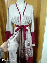 Fashion red print Muslim dress Women Abaya Middle East Long Robe Gowns Ramadan Dubai Arab Islamic Clothing a707