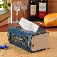 Европейская гостиная бумажное полотенце картонная коробка Бытовая креативная американская ретро книги приемная коробка и вытягивающаяся