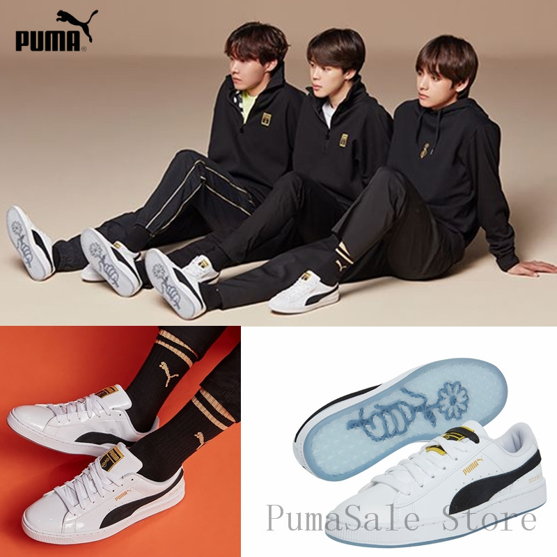 more photos 27415 c7f64 US $62.0 5% OFF|PUMA X BTS Basket Patent Shoes Bangtanboys Collaborat  Classic Sneaker Unisex /Men's /Women's Sneaker Shoes Size35.5 44-in  Badminton ...