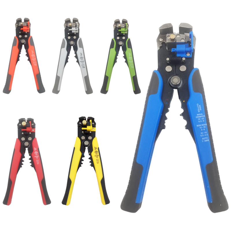 HS-D1 Crimper Cable Cutter Automatic Wire Stripper Multifunctional Stripping Tools Crimping Pliers Terminal 0.2-6.0mm2 tool fasen hot sale hs d1 multi functional cable wire stripping awg24 10 0 2 6 0mm2 straight cutting crimping tools wire stripper