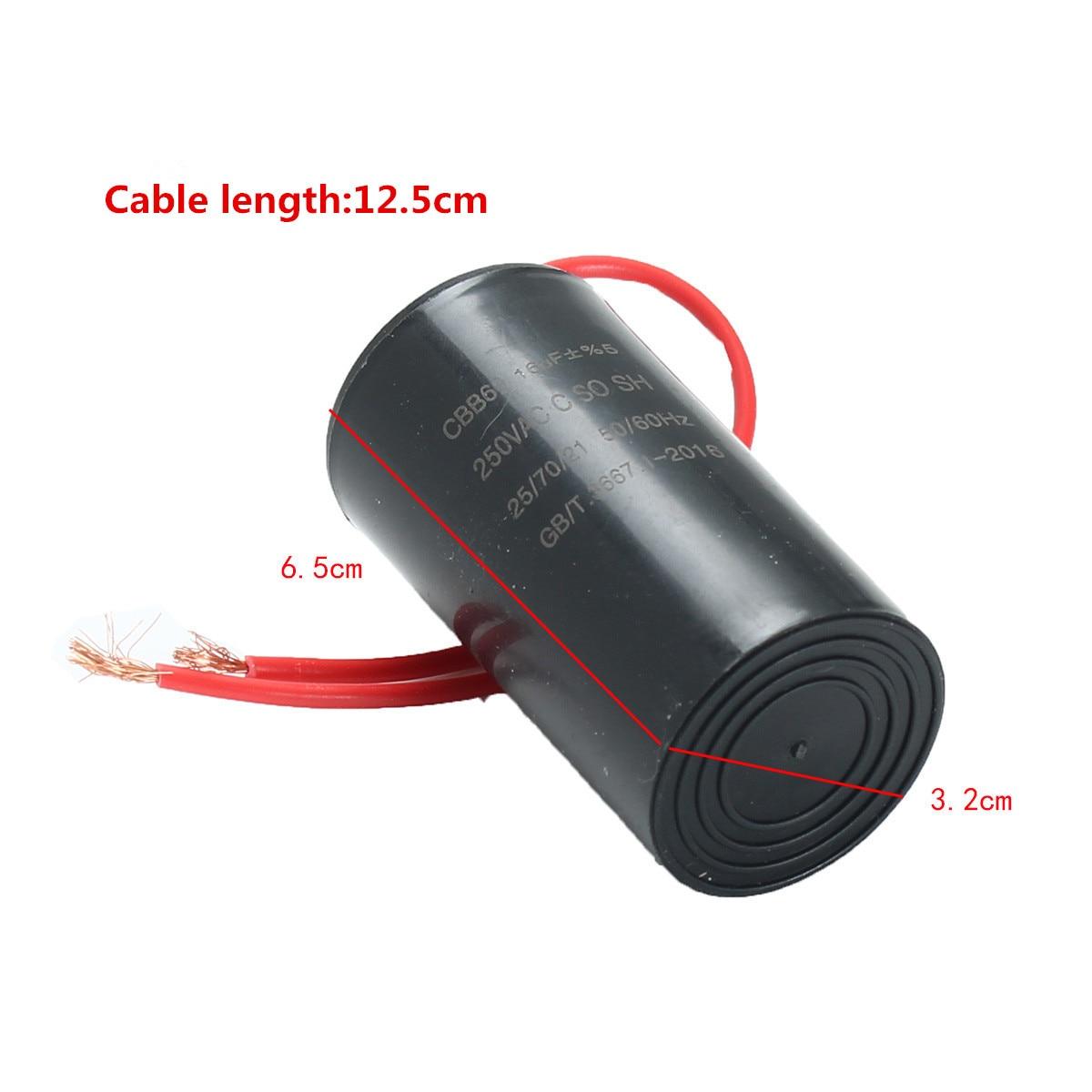 Cbb60 air conditioning washing machine motor start for Ac motor start capacitor