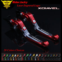 RiderJacky 1 Pair Red Motorcycle Folding Extendable Brake Clutch Levers For Ducati XDiavel S 2011
