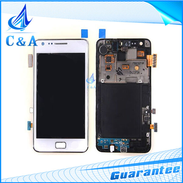 1 piece free shipping replacement parts 4.3 screen for Samsung Galaxy S2 i9100 i9105 lcd display with touch digititzer+frame
