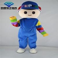 Pepee little boy mascot costume cartoon Blue Adult factory direct sales